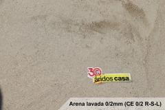 Arena lavada 0/2 (CE 0/2 R-S-L)